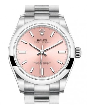 Rolex Oyster Perpetual 31 Stainless Steel Pink Index Dial & Smooth Bezel Oyster Bracelet 277200 - BRAND NEW