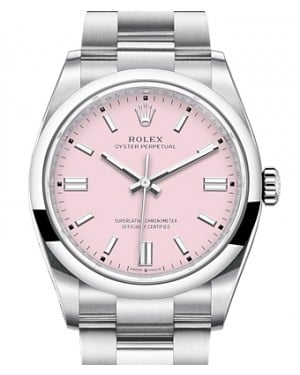 Rolex Oyster Perpetual 36 Stainless Steel Pink Index Dial & Smooth Domed Bezel Oyster Bracelet 126000 - BRAND NEW