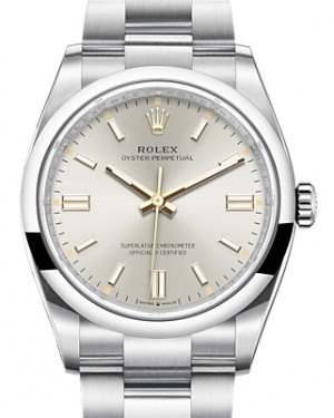 Rolex Oyster Perpetual 36 Stainless Steel Silver Index Dial & Smooth Domed Bezel Oyster Bracelet 126000 - BRAND NEW
