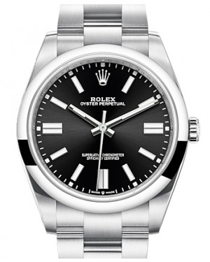 Rolex Oyster Perpetual 41 Stainless Steel Black Index Dial & Smooth Bezel Oyster Bracelet 124300 - BRAND NEW