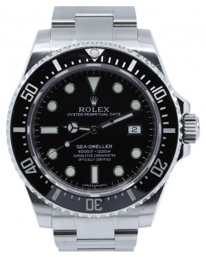 Rolex Sea-Dweller 4000 116600 Men's 40mm Black Stainless Steel Oyster Diver - PRE-OWNED