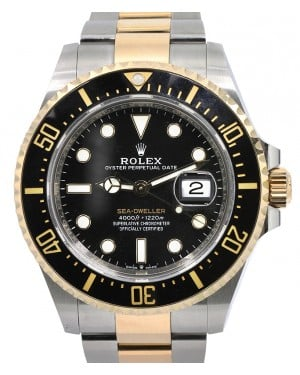 Rolex Sea-Dweller 43mm Case Yellow Gold/Steel Black Dial & Ceramic Bezel Oyster Bracelet 126603 - PRE-OWNED