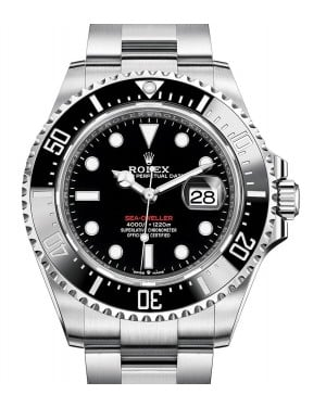 Rolex Sea-Dweller Stainless Steel Black Maxi Dial & Ceramic Bezel Oyster Bracelet 43mm 126600 - BRAND NEW