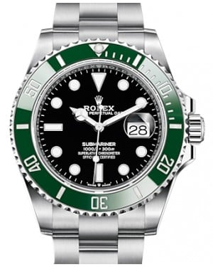 "Rolex Submariner ""Kermit"" Date Stainless Steel Black 41mm Dial & Green Ceramic Bezel Oyster Bracelet 126610LV - BRAND NEW"