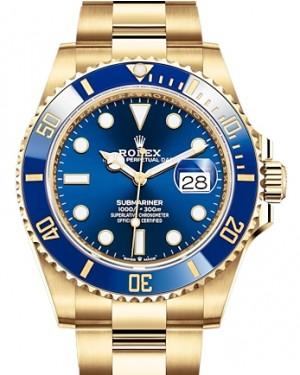 Rolex Submariner Date Yellow Gold Blue 41mm Dial & Ceramic Bezel Oyster Bracelet 126618LB - BRAND NEW