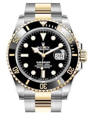 Rolex Submariner Date Yellow Gold/Steel Black 41mm Dial & Ceramic Bezel Oyster Bracelet 126613LN - BRAND NEW