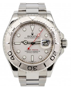 Rolex Yacht-Master 40 Stainless Steel Silver Platinum Dial & Bezel Oyster Bracelet 116622 - PRE-OWNED