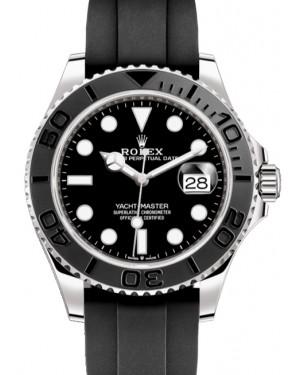 Rolex Yacht-Master 42 White Gold Black Dial & Matte Black Oysterflex Strap 226659 - BRAND NEW