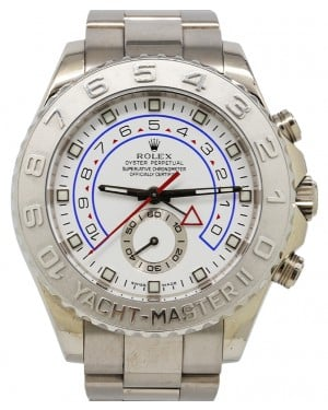 Rolex Yacht-Master II Regatta 44mm White Gold 18k Platinum Bezel Oyster Bracelet 44mm 116689 - PRE-OWNED