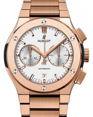 Hublot Classic Fusion King Gold 520.OX.2610.OX Silver Index Chronograph Rose Gold 45mm - BRAND NEW