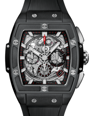 Hublot Spirit Of Big Bang Black Magic Ceramic Skeleton 42mm Dial Bezel Rubber Strap 601.CI.0173.RX - BRAND NEW
