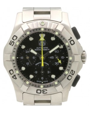 TAG Heuer Aquagraph CN211A.BA0353 Black Stainless Steel Automatic Men's 43mm - PRE-OWNED