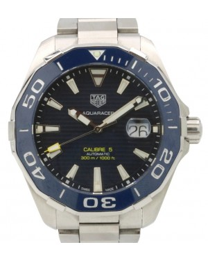 TAG Heuer Aquaracer Calibre 5 Stainless Steel Blue Index Dial & Ceramic Bezel WAY201B - PRE-OWNED