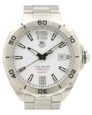 Tag Heuer Formula 1 Calibre 5 Stainless Steel White Dial Steel Bezel & Bracelet WAZ2114.BA0875 - PRE-OWNED