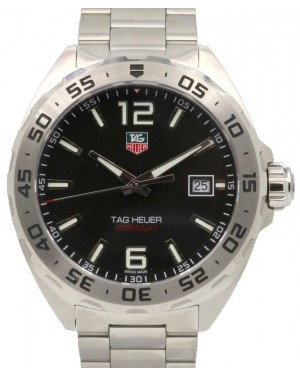 TAG Heuer Formula 1 WAZ1112.BA0875 Black Arabic / Index Stainless Steel 200M 41mm - BRAND NEW