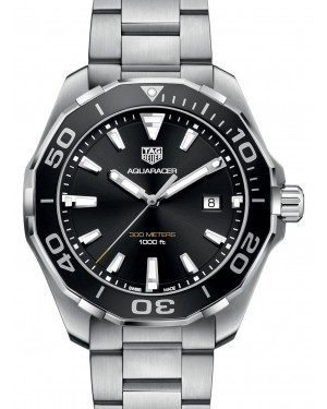 Tag Heuer Aquaracer Stainless Steel Black Index Dial & Stainless Steel Bracelet WAY101A.BA0746 - BRAND NEW
