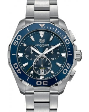 Tag Heuer Aquaracer Stainless Steel Blue Index Dial & Stainless Steel Bracelet CAY111B.BA0927 - BRAND NEW