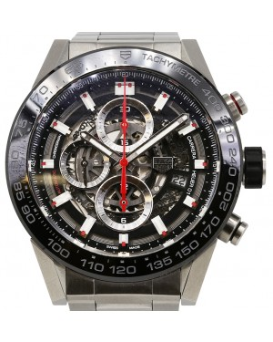 Tag Heuer Carrera Stainless Steel Black Index Dial & Stainless Steel Bracelet  CAR2A1W.BA0703 - BRAND NEW