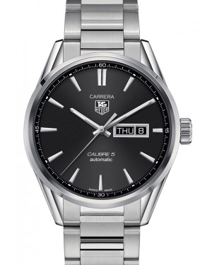 Tag Heuer Carrera Stainless Steel Black Index Dial & Stainless Steel Bracelet  WAR201A.BA0723 - BRAND NEW