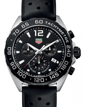 Tag Heuer Formula 1 Stainless Steel Black Index Dial & Rubber Strap CAZ1010.FT8024 - BRAND NEW