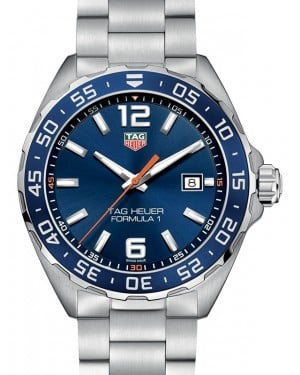 Tag Heuer Formula 1 Stainless Steel Blue Index Dial & Stainless Steel Bracelet WAZ1010.BA0842 - BRAND NEW