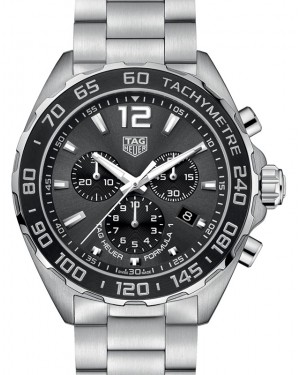 Tag Heuer Formula 1 Stainless Steel Grey Index Dial & Stainless Steel Bracelet CAZ1011.BA0842 - BRAND NEW