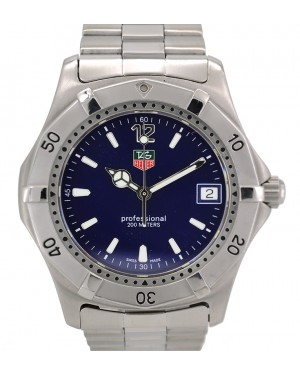 Tag Heuer Professional Stainless Steel Blue Index Dial & Stainless Steel Bracelet WK1113 - PRE-OWNED