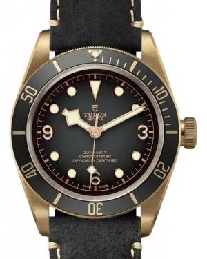 Tudor Black Bay Bronze 43mm Grey Dial Leather Strap 79250BA-0001 - Brand New