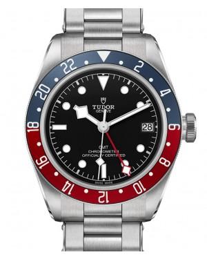 """Tudor Black Bay GMT """"Pepsi"""" Stainless Steel Blue Red Bezel Riveted Bracelet 79830RB-0001 - BRAND NEW"""