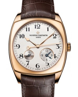 Vacheron Constantin Harmony Dual Time Rose Gold Silver Arabic Dial & Leather Strap 7810S/000R-B141 - BRAND NEW