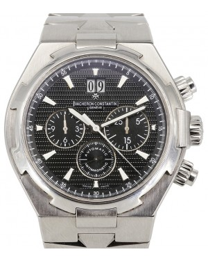 Vacheron Constantin Overseas Chronograph Stainless Steel Black Index Dial Steel Bracelet 49150/B01A - PRE-OWNED