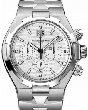 Vacheron Constantin Overseas Chronograph Stainless Steel White Dial Bracelet 42mm 49150/B01A-9095 Second Generation