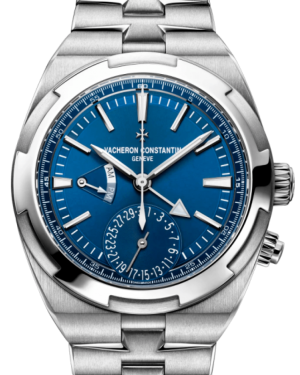 Vacheron Constantin Overseas Dual Time Stainless Steel Blue 41mm Index Dial 7900V/110A-B334 - Brand New