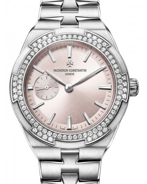 Vacheron Constantin Overseas Stainless Steel Pink Index Dial Diamond Bezel & Steel Bracelet 2305V/100A-B078 - BRAND NEW