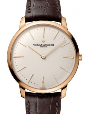 Vacheron Constantin Patrimony Rose Gold Silver Index Dial & Leather Strap 81180/000R-9159 - BRAND NEW