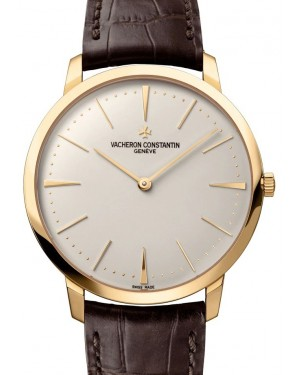 Vacheron Constantin Patrimony Yellow Gold Silver Index Dial & Leather Strap 81180/000J-9118 - BRAND NEW