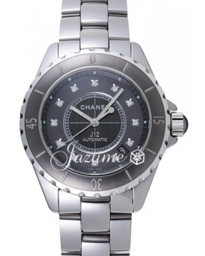 Chanel J12 Chromatic Titanium H3242 Automatic Diamonds 38mm Gray Ceramic BRAND NEW