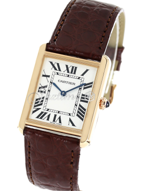 CARTIER W5200025 TANK SOLO PINK GOLD STAINLESS STEEL BRAND NEW