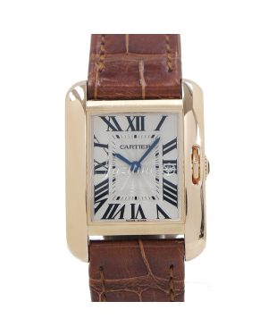 CARTIER W5310027 TANK ANGLAISE PINK GOLD, LEATHER BRAND NEW