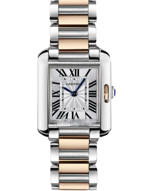 CARTIER W5310036 TANK ANGLAISE PINK GOLD AND STEEL BRAND NEW