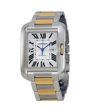 CARTIER W5310047 TANK ANGLAISE GOLD, STEEL - BRAND NEW