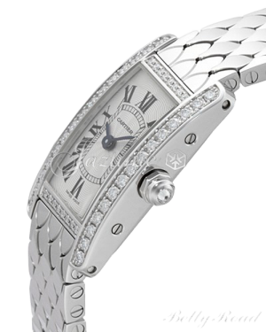 CARTIER WB710013 TANK AMERICAINE 18K WHITE GOLD, DIAMONDS BRAND NEW
