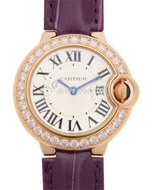 CARTIER WE900251 BALLON BLUE DE 28mm PINK GOLD BRAND NEW