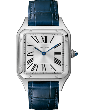 Cartier Santos-Dumont Stainless Steel Silver Small Dial Leather Strap WSSA0023 - BRAND NEW
