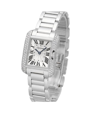 CARTIER WT100008 TANK ANGLAISE 18K WHITE GOLD, DIAMONDS BRAND NEW