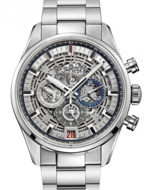 Zenith Chronomaster El Primero Full Open Stainless Steel Silver Index Dial & Stainless Steel Bracelet 03.2081.400/78.M2040 - BRAND NEW