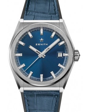 Zenith Defy Classic Titanium Blue Dial & Leather Strap 95.9000.670/51.R584 - BRAND NEW