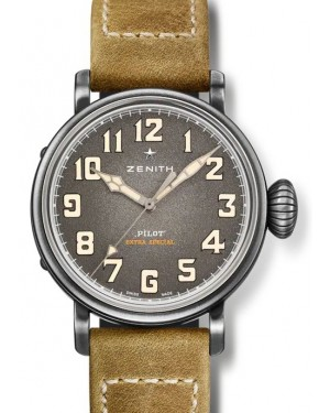 Zenith PILOT Type 20 Stainless Steel Grey Arabic Dial & Leather Strap 11.1940.679/91.C807 - BRAND NEW