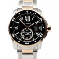Cartier Calibre Diver W7100054 42mm 18k Rose Gold Stainless Steel BRAND NEW 2016
