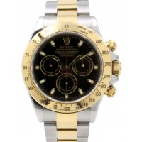 Rolex Cosmograph Daytona 116523 Black Chronograph Yellow Gold Stainless Steel